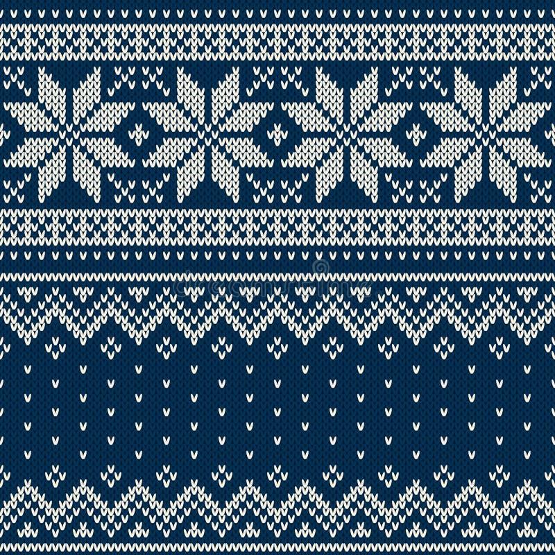 Teste padrão feito malha sem emenda Projeto da camiseta de lãs ilustração stock
