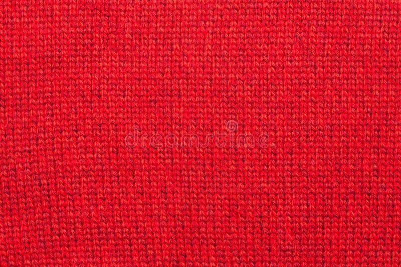 Teste Padrão Feito Malha Vermelho De Matéria Têxtil Do Fio