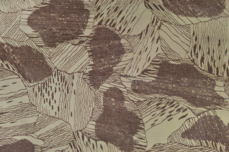 Teste padrão feito sob encomenda da textura da camuflagem, pálido horizontal - o marrom bronzeado do taupe do verde textured o fu imagem de stock