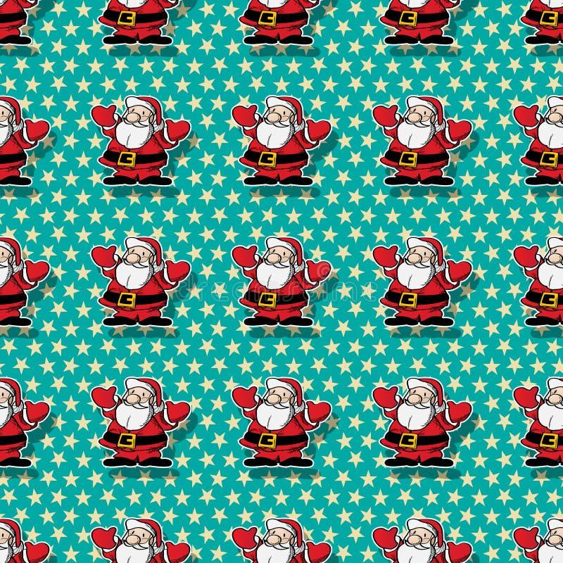 Teste padrão feliz de Santa ilustração royalty free