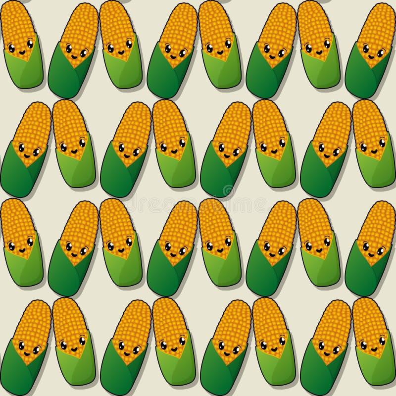 Teste padrão feliz do milho ilustração do vetor