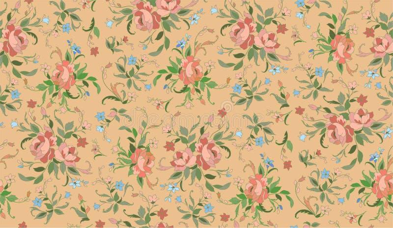 Teste padrão floral ilustração do vetor