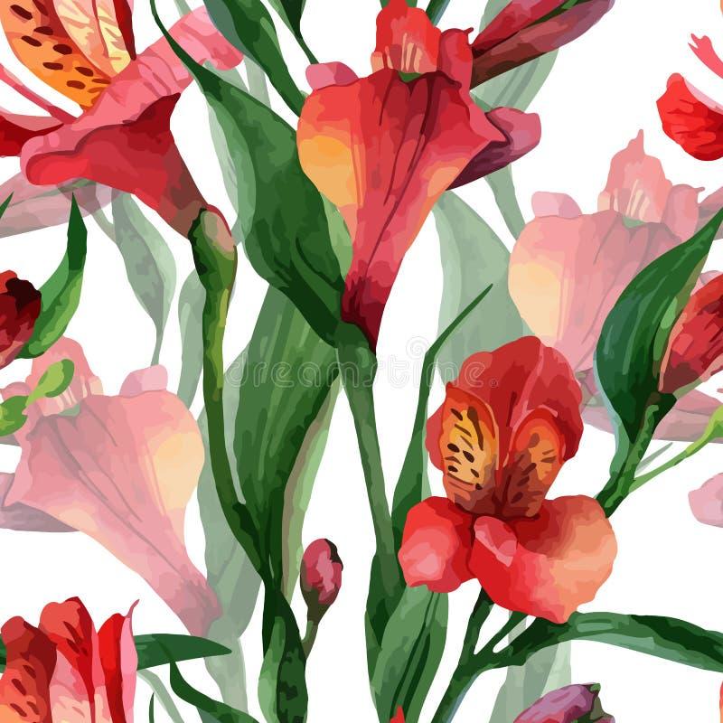 Teste padrão floral ilustração stock