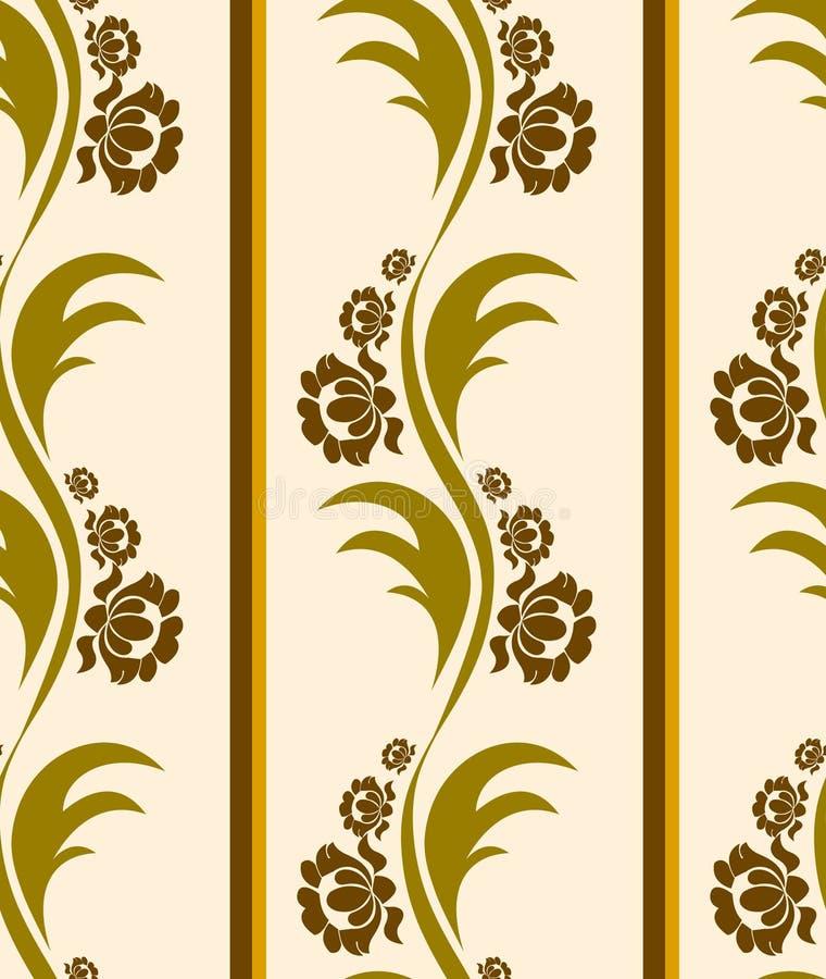 Teste padrão floral abstrato ilustração do vetor