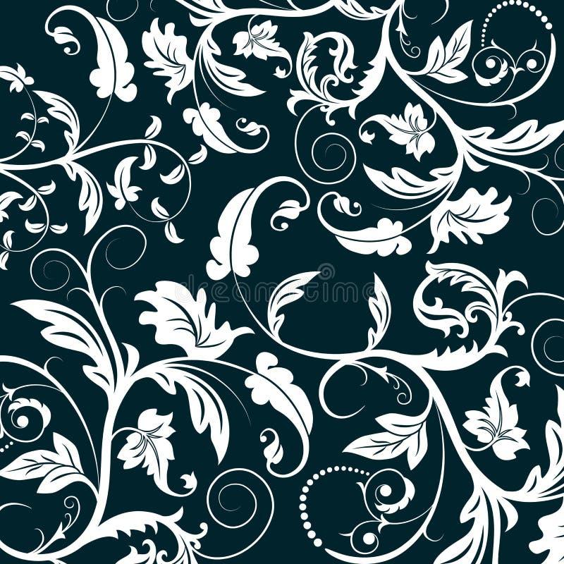 Teste padrão floral abstrato ilustração stock