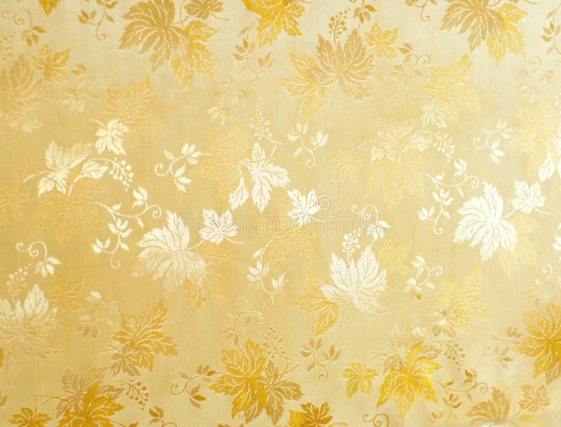Teste padrão floral abstrato da tela fotografia de stock
