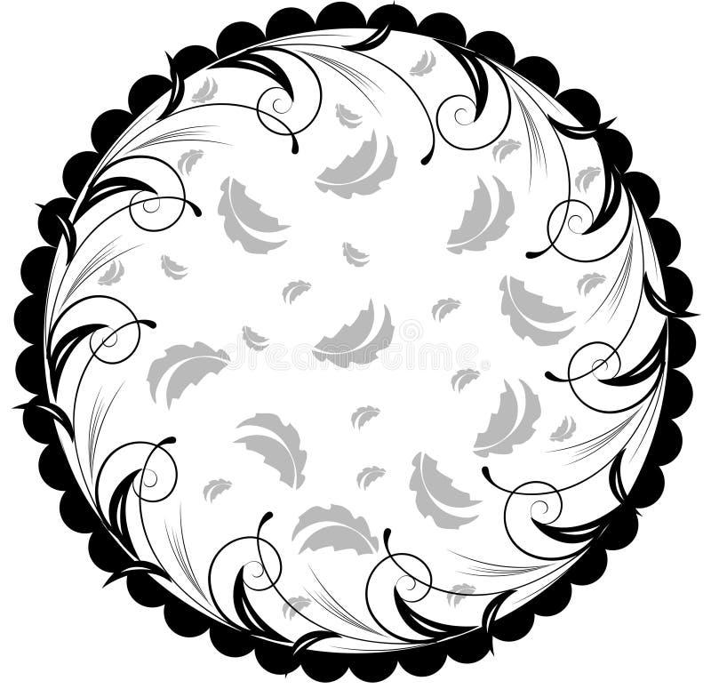 Teste padrão floral abstrato do círculo ilustração stock