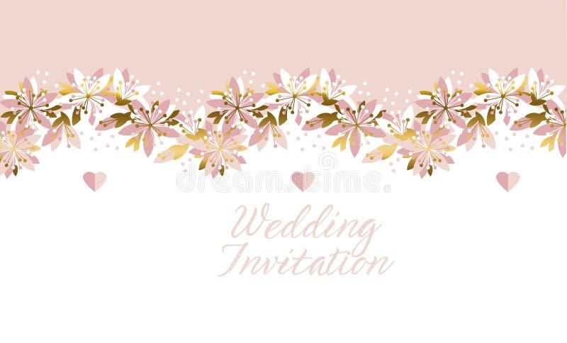 Teste padrão floral abstrato do conceito Bandeira macia da flor, cartão ilustração stock