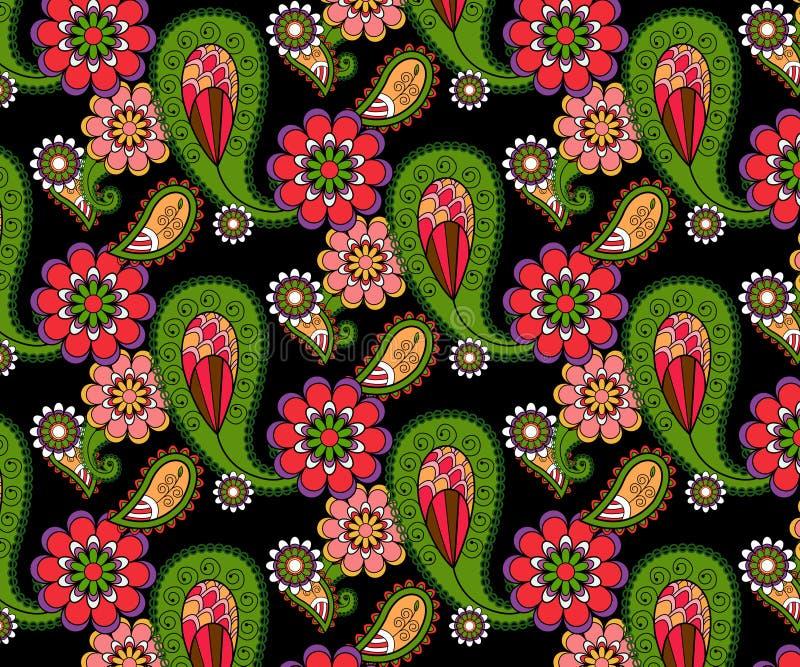 Teste padrão floral abstrato do vetor das garatujas ilustração do vetor