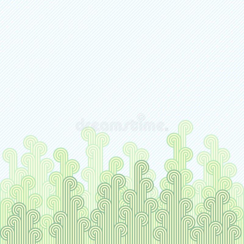 Teste padrão floral abstrato em fundo listrado com espaço livre para o texto sobre a imagem ilustração stock
