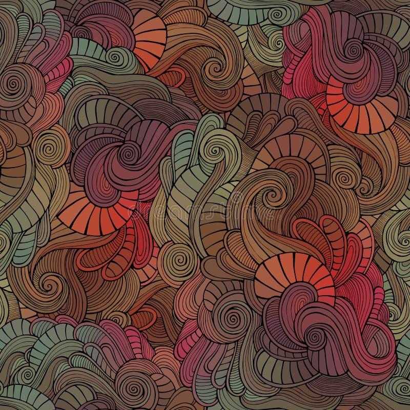 Teste padrão floral abstrato sem emenda do vintage do vetor ilustração stock