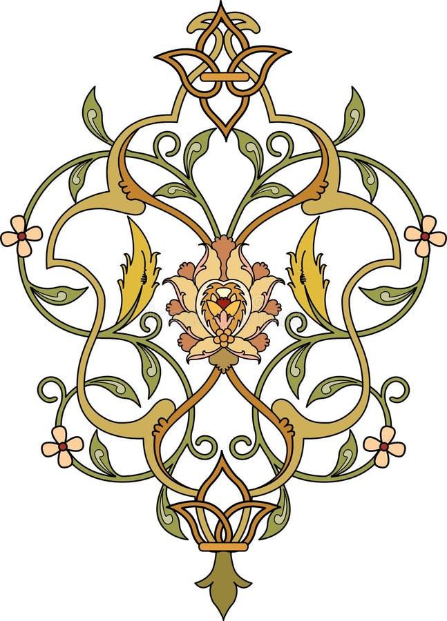 Teste padrão floral bonito ilustração royalty free