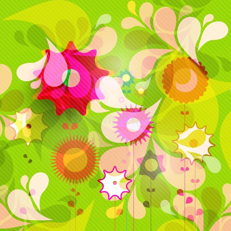 Teste padrão floral bonito ilustração stock
