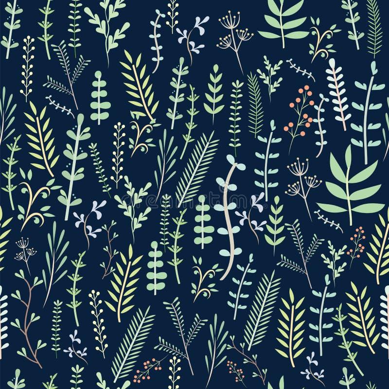 Teste padrão floral bonito na flor pequena Fundo sem emenda do branco do vetor ilustração royalty free