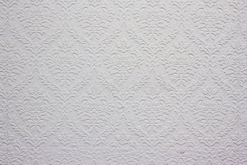 Teste padrão floral branco do vintage, papel de parede fotos de stock