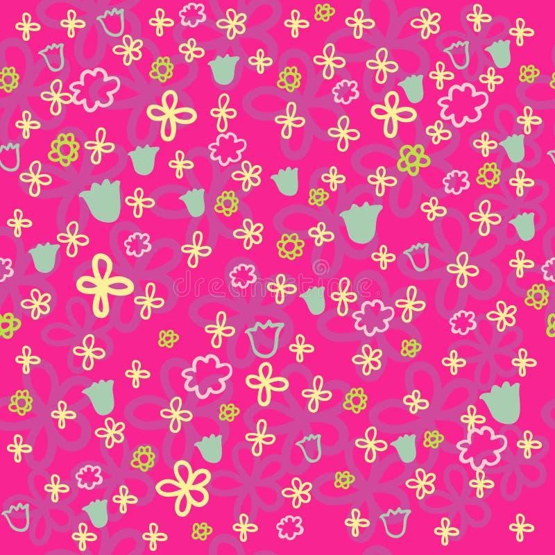 Teste padrão floral brilhante ilustração royalty free