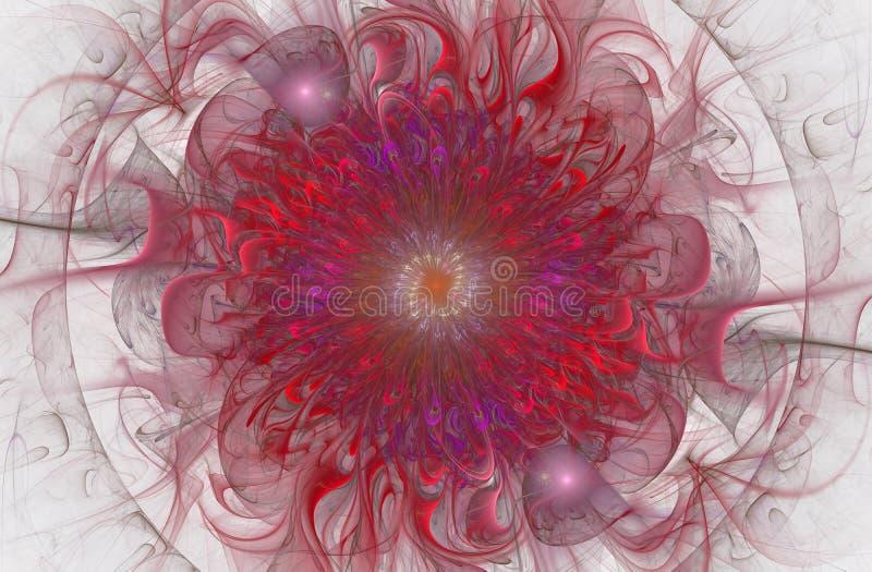 Teste padrão floral brilhante e exótico brilhante Flor abstrata bonita ilustração stock