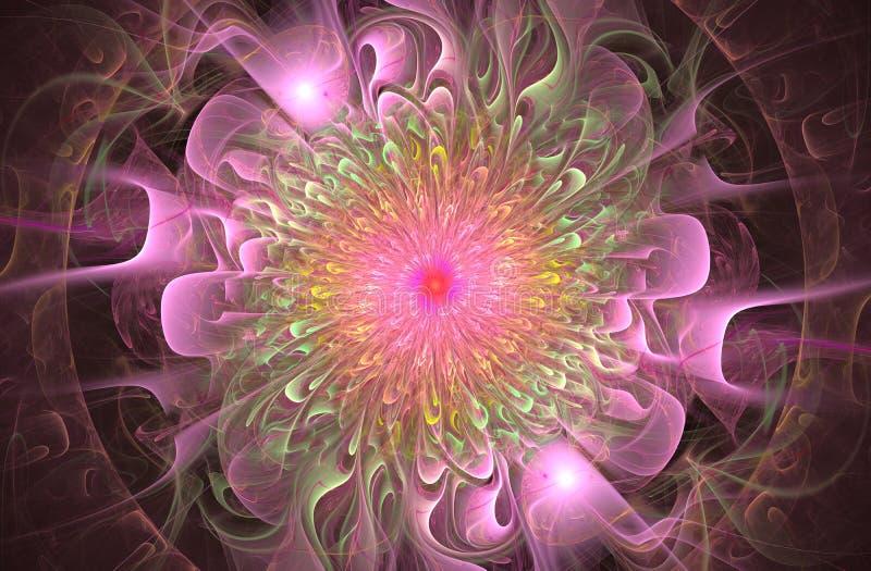 Teste padrão floral brilhante e exótico brilhante Flor abstrata bonita ilustração royalty free