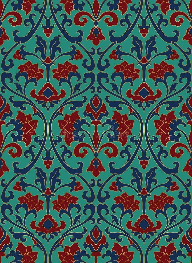 Teste padrão floral colorido ilustração royalty free