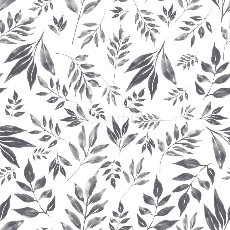 Teste padrão floral da aquarela ilustração stock