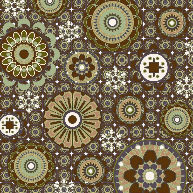 Teste padrão floral da arte ilustração do vetor