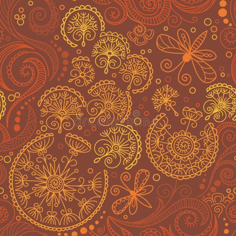 Teste padrão floral da cor sem emenda do vetor ilustração do vetor