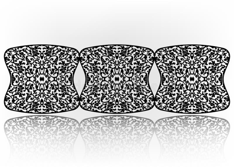 Teste padrão floral da decoração luxuoso, módulos do ferro forjado, úteis como cercas, trilhos, grades de janela isoladas no fund ilustração stock