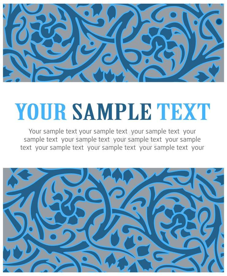 Teste padrão floral da geada ilustração do vetor