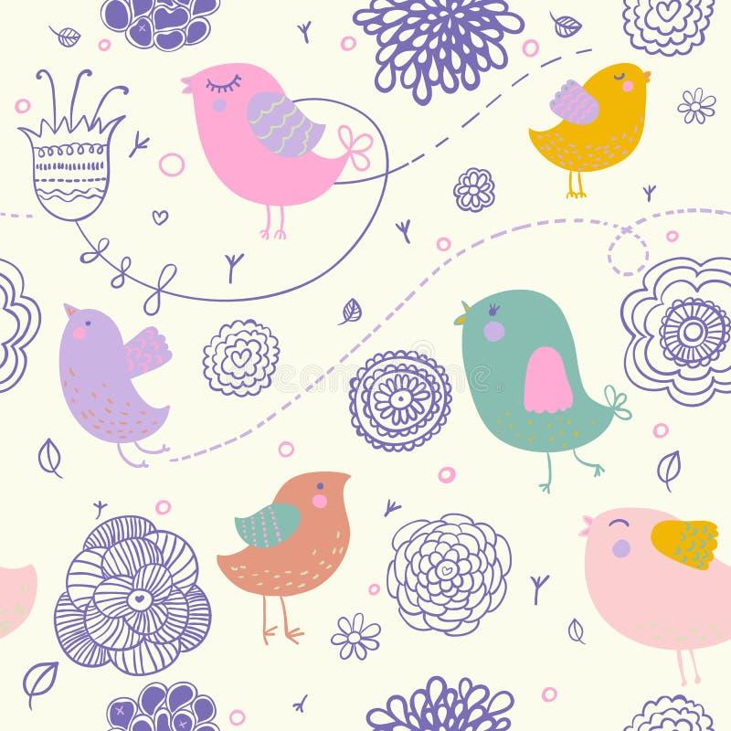 Teste padrão floral da mola ilustração stock