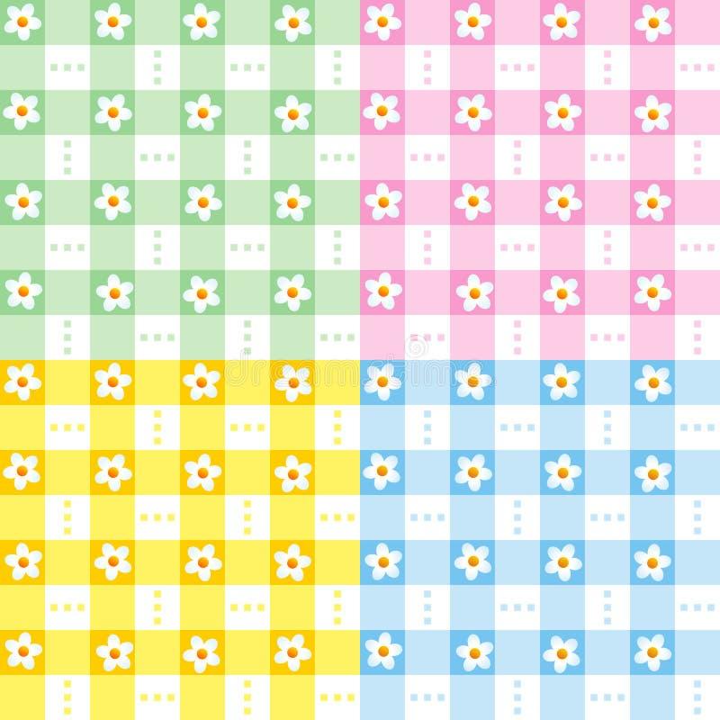 Teste padrão floral das cores pastel sem emenda ilustração royalty free
