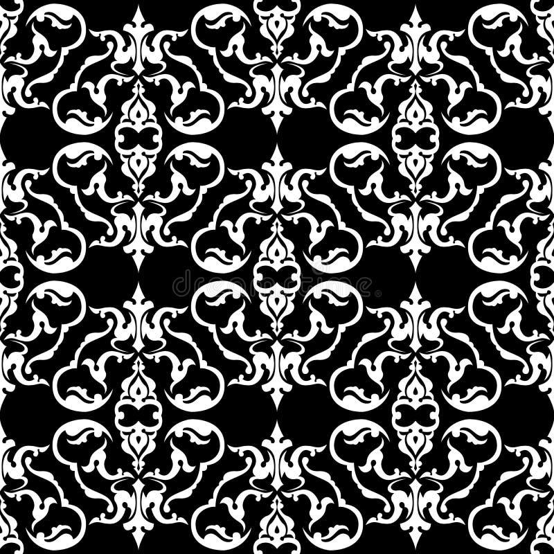 Teste padrão floral de duas cores ilustração do vetor