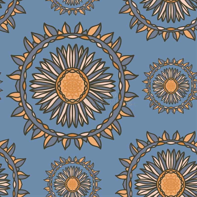 Teste padrão floral decorativo sem emenda ilustração royalty free