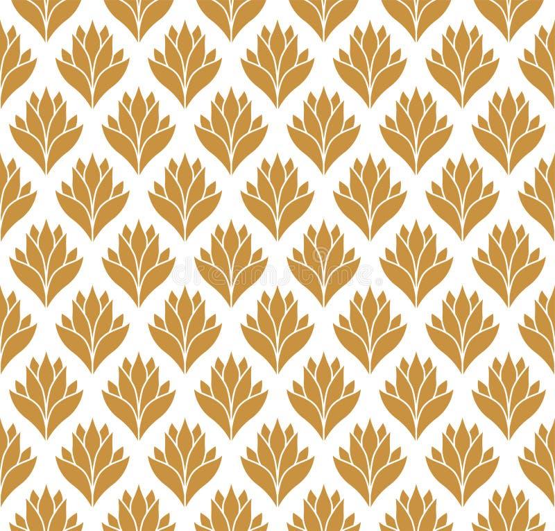 Teste padrão floral do Arabesque sem emenda Art Deco Style Background Textura da flor do sumário do vetor ilustração royalty free