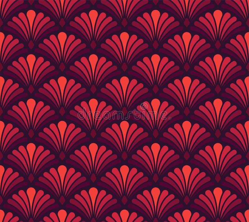 Teste padrão floral do Arabesque sem emenda Art Deco Style Background Textura da flor do sumário do vetor ilustração do vetor