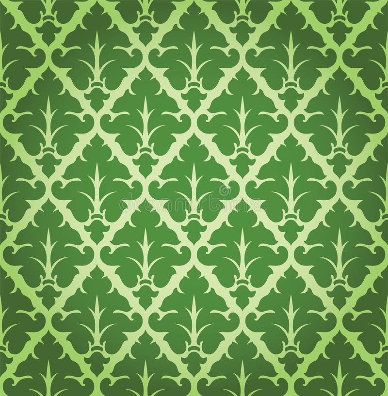 Teste padrão floral do fundo do damasco do vetor ilustração stock