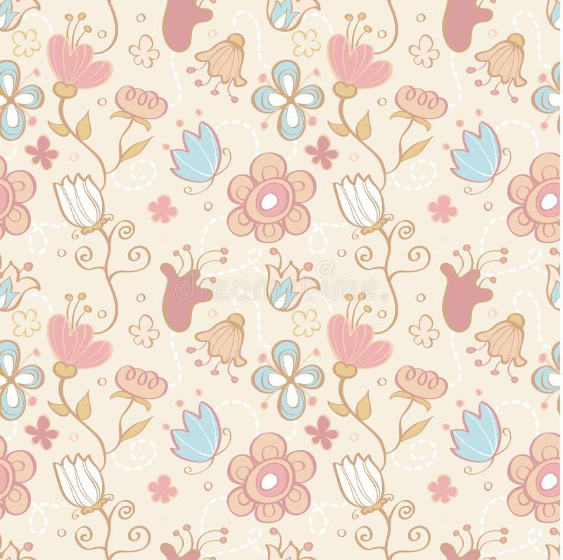 Teste padrão floral do fundo sem emenda ilustração do vetor