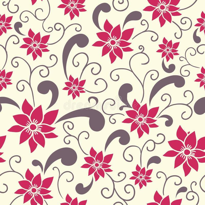 Teste padrão floral do verão ilustração stock