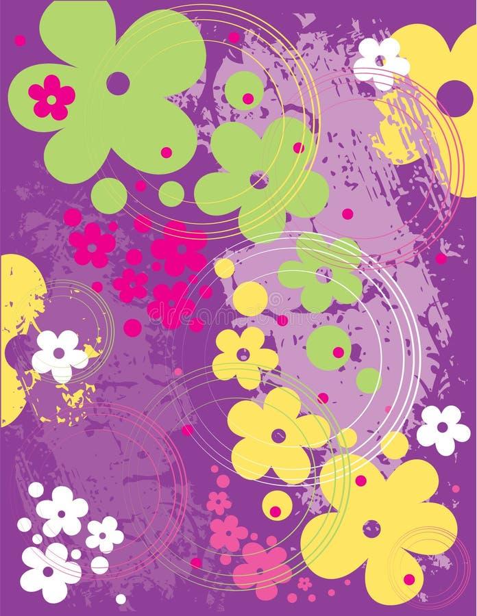 Teste padrão floral do vetor ilustração do vetor