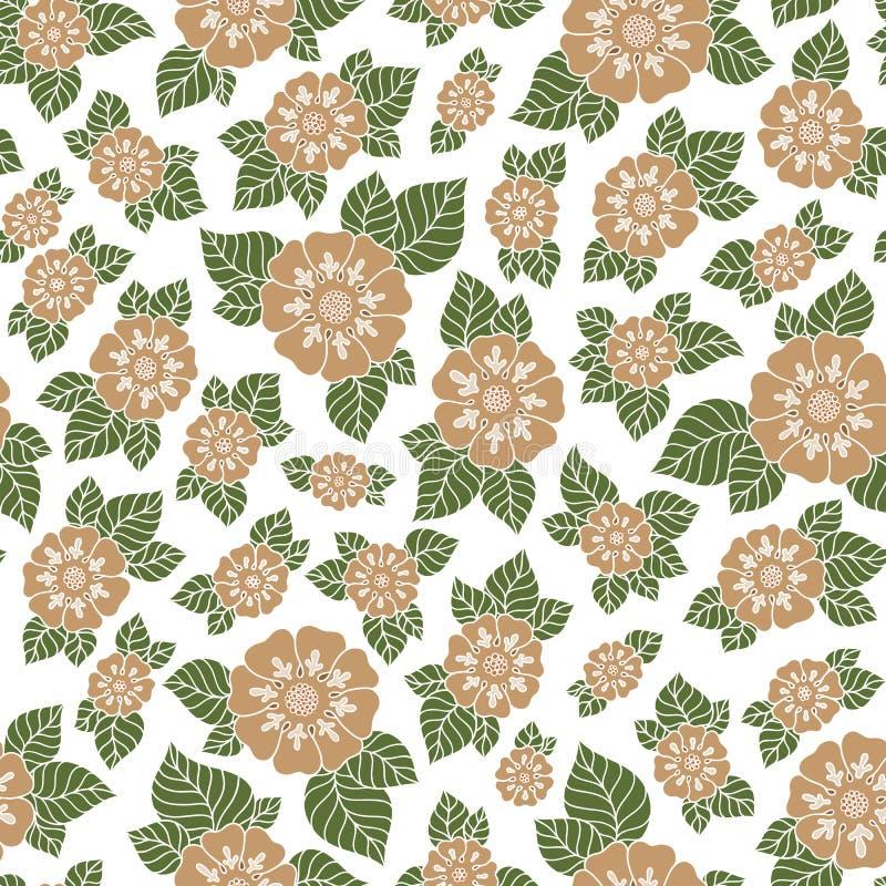 Teste padrão floral do vetor sem emenda com as plantas coloridas da fantasia e ilustração do vetor