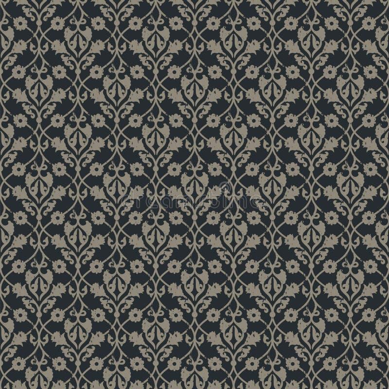 Teste padrão floral do vintage real sem emenda do vetor projete para as tampas, envolvendo, matéria têxtil, papéis de parede ilustração do vetor