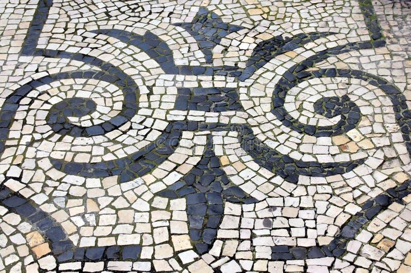 Teste padrão floral dos Cobblestones imagens de stock royalty free
