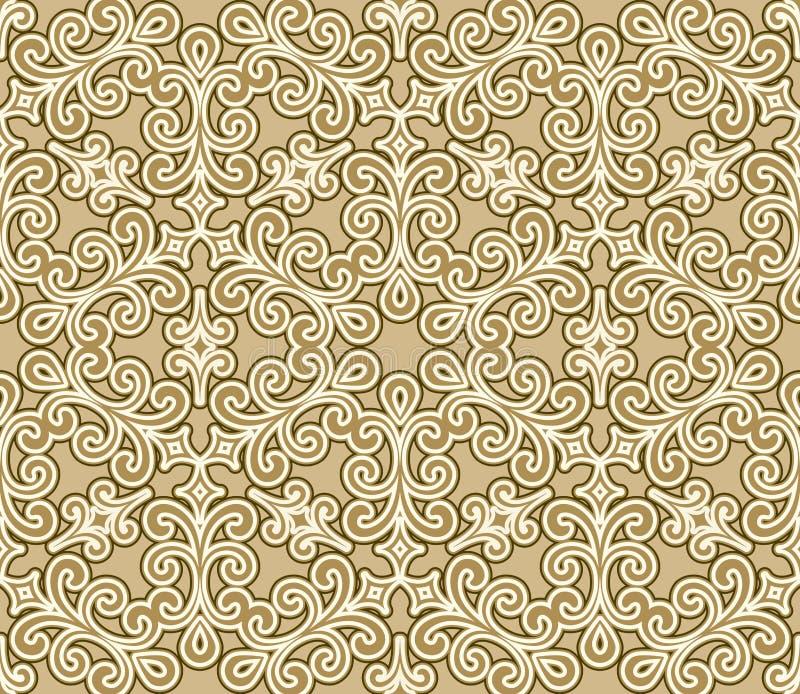 Teste padrão floral dos redemoinhos ilustração royalty free