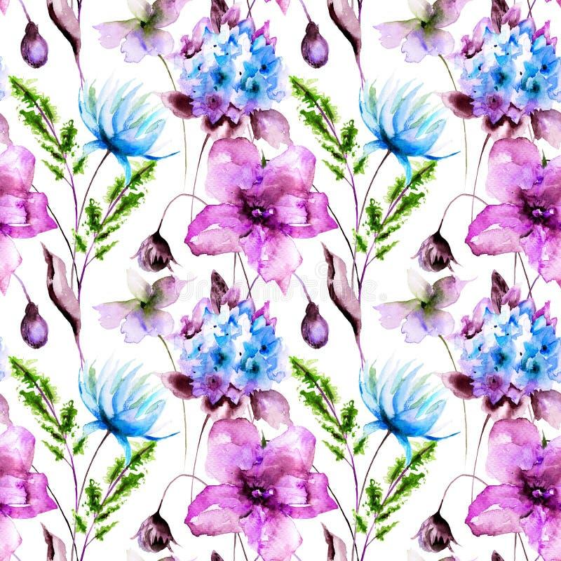 Teste padrão floral dos seamles ilustração royalty free