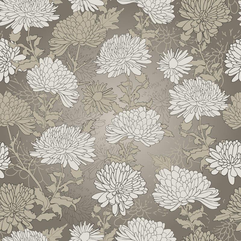 Teste padrão floral. Fundo com crisântemo. ilustração royalty free