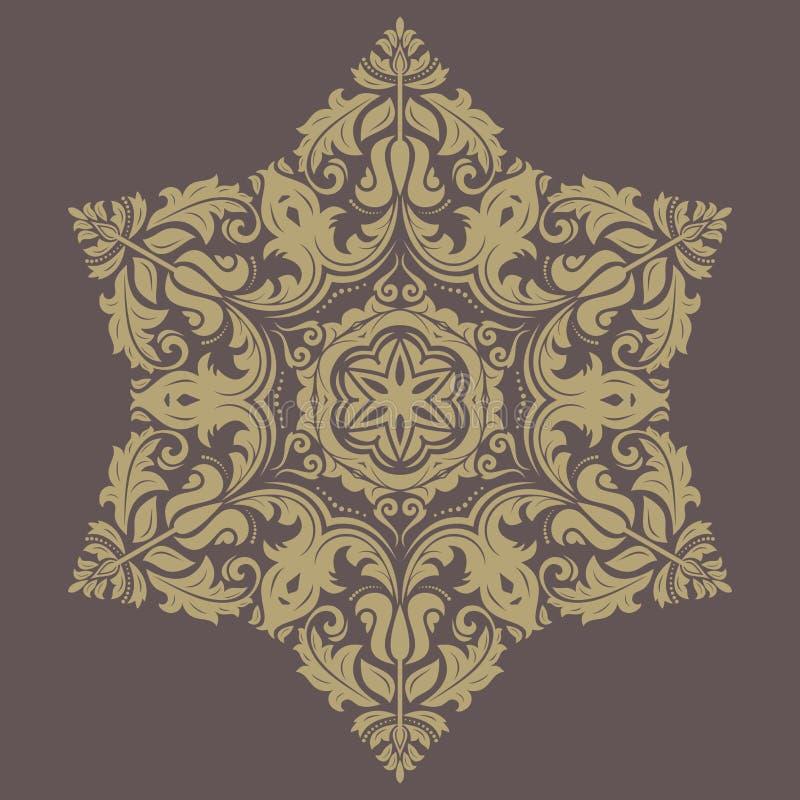 Teste padrão floral Fundo do sumário de Oriente ilustração royalty free