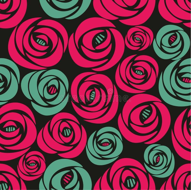 Teste padrão floral infinito do vintage ilustração do vetor