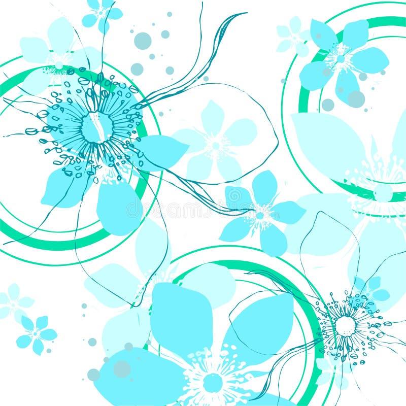 Teste padrão floral invernal ilustração stock