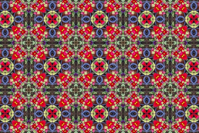 Teste padrão floral Kaleidoscopic ilustração royalty free