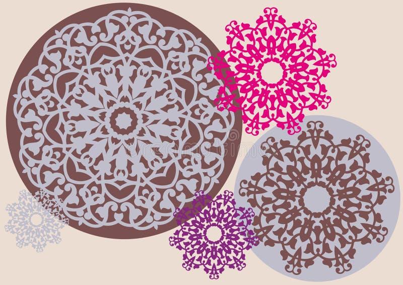Teste padrão floral Kaleidoscopic ilustração stock