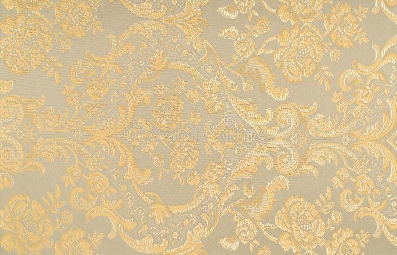 Teste padrão floral na tela foto de stock royalty free